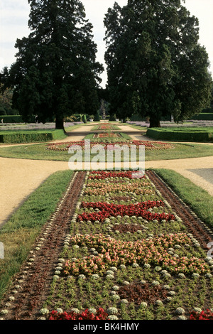 Ornamental Gardens at the Lednice Chateau, Czech Republic - Stock Photo