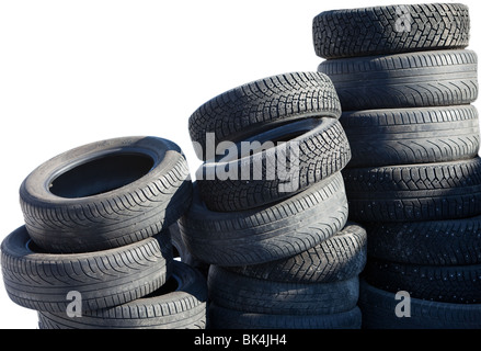 Worn Out Bald Car Bald Tire Bavaria Germany Nobody Stock Photo