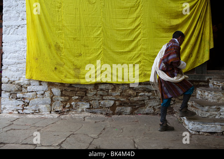 From a series of images shot while traveling in Bhutan - Stock Photo