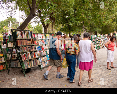 Book market in the Plaza de Armas Old Havana Cuba Stock ...