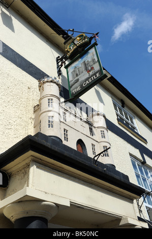The Castle public house at Wem in north Shropshire uk - Stock Photo
