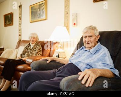 Elderly Couple in Retirement Home - Stock Photo