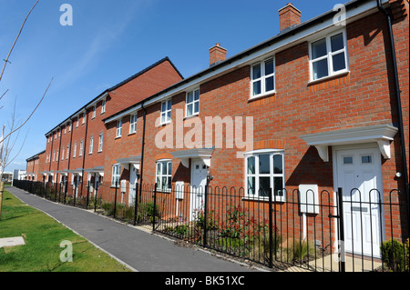 Modern terraced houses at Trench in Telford Shropshire uk - Stock Photo