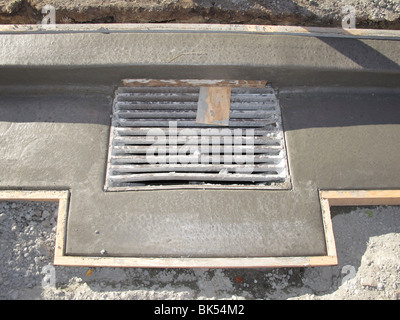 Concrete kerbing and formwork - Stock Photo