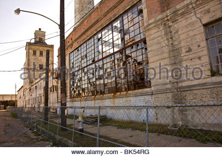 Old Falstaff Brewing Corporation Brewery in New Orleans, Louisiana. United States. - Stock Photo