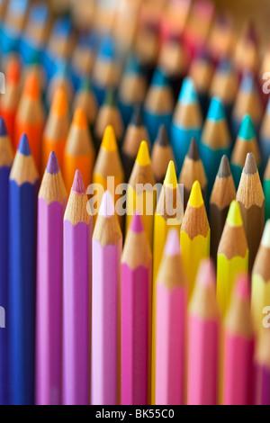 Cloured Pencils Stock Photo