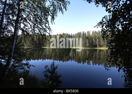 Lake Pihlajavesi, Punkaharju Nature Reserve, Savonlinna, Savonia, Finland, Scandinavia, Europe - Stock Photo
