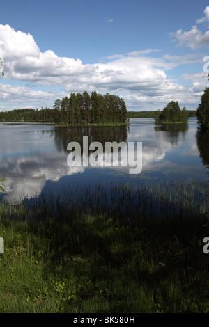 Lake Puruvesi, Punkaharju Nature Reserve, Saimaa Lake District, Savonia, Finland, Scandinavia, Europe - Stock Photo