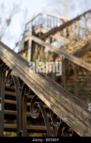 Old fashioned metal stairs - Stock Photo