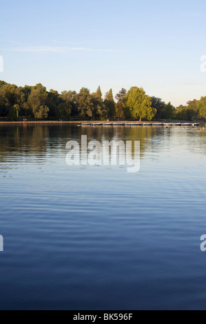 Boats on The Serpentine, Hyde Park, London, England, United Kingdom, Europe - Stock Photo