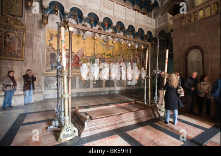 Church of the Holy Sepulchre, Jerusalem, Israel, Middle East - Stock Photo