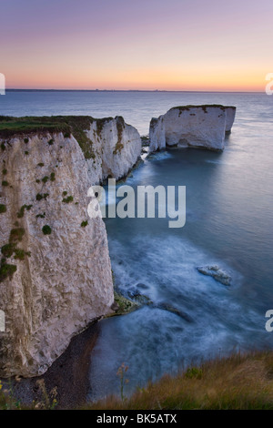 Old Harry Rocks, The Foreland or Handfast Point, Studland, Isle of Purbeck, Dorset, England, United Kingdom, Europe - Stock Photo