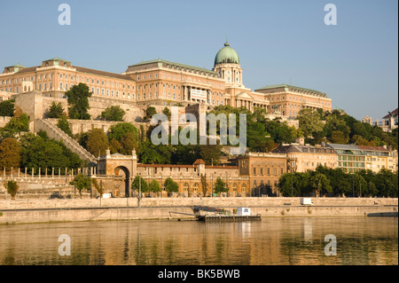 The Royal Palace on Castle Hill seen from the Danube River, Budapest, Hungary, Europe - Stock Photo