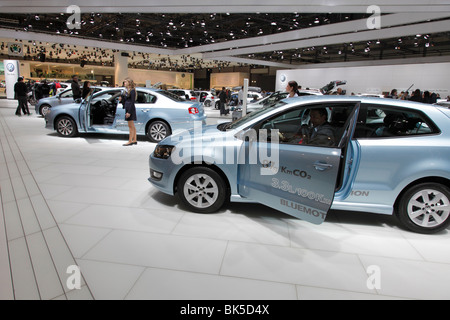 VW at the Auto Mobil International (AMI) - Motor Show 2010 in Leipzig, Germany - Stock Photo
