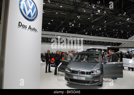 VW Sharan at the Auto Mobil International (AMI) - Motor Show 2010 in Leipzig, Germany - Stock Photo