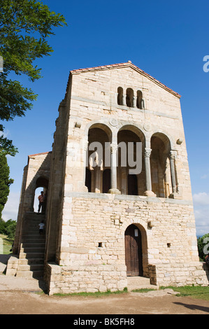 Santa Maria de Naranco, 9th century pre-romanesque style, UNESCO World Heritage Site, Oviedo, Asturias, Spain, Europe - Stock Photo