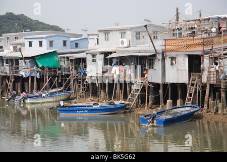 Stilt Houses, Tai O Fishing Village, Lantau Island, Hong Kong, China, Asia - Stock Photo