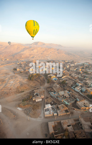 Balloons near Valley of the Kings, Luxor, Egypt, North Africa, Africa - Stock Photo