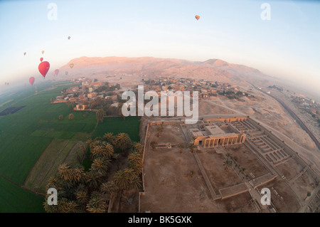 Balloons near Valley of the Kings, Luxor, Egypt, Africa - Stock Photo