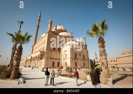 The Mosque of Muhammad Ali at the Citadel, Cairo, Egypt, North Africa, Africa - Stock Photo