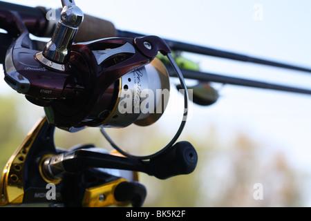 two fishing poles - Stock Photo
