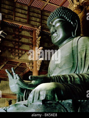 Todaiji (Great Eastern Temple), the world's largest wooden building, Nara, UNESCO World Heritage Site, Japan - Stock Photo