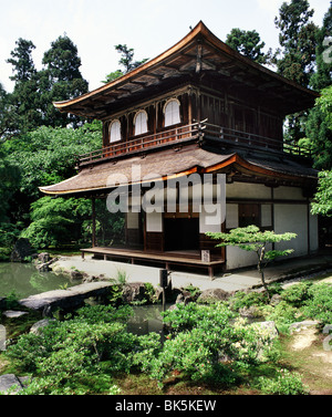 Ginkakuji, the Silver Pavilion, is a Zen temple built in 1482, Kyoto, UNESCO World Heritage Site, Japan, Asia - Stock Photo