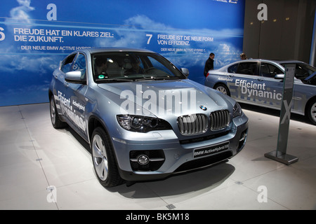 BMW ActiveHybrid X6 at the Auto Mobil International (AMI); Motor Show 2010 in Leipzig, Germany - Stock Photo