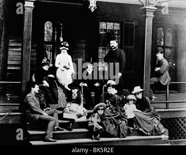 General Ulysses S. Grant and Family  1886 - Stock Photo