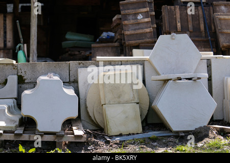 Stock photo of hand made paving slabs. - Stock Photo