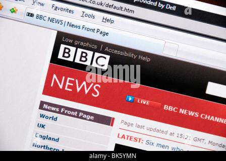 BBC News website - Stock Photo