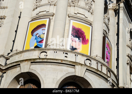 Exterior of the Gielgud Theatre in Shaftesbury Avenue, London, England - Stock Photo