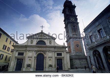 italy, lombardy (lombardia), varese, basilica di san vittore - Stock Photo