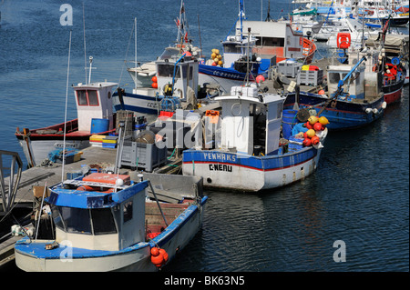 Fishing boats, Concarneau, Finistere, Brittany, France, Europe - Stock Photo