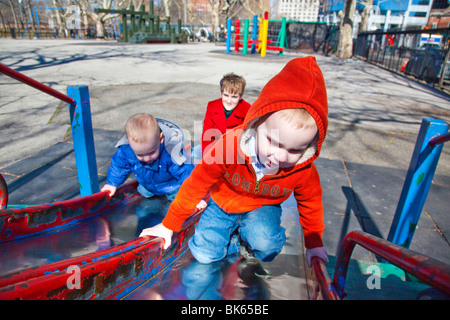 Slide in Battery Park, Manhattan, New York City - Stock Photo