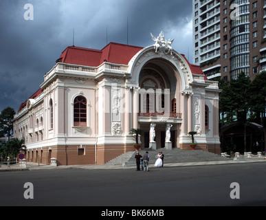 Saigon Municipal theatre, Saigon, Vietnam, Indochina, Southeast Asia, Asia - Stock Photo