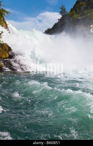 Rhine waterfall. Famous waterfall in Switzerland. - Stock Photo