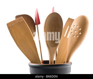 Wooden Kitchen Utensils - Stock Photo