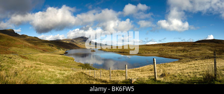 Panoramic Of The Old Man Of Storr, Isle Of Skye, Scotland - Stock Photo