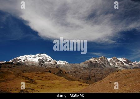 Scene from the Cordillera Real in Bolivia. - Stock Photo