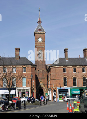 Louth Town centre, Louth, Lincolnshire, - Stock Photo