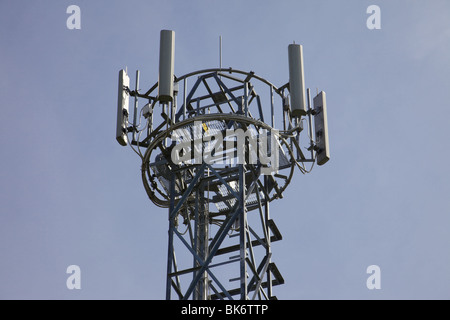 Mobile phone mast in England - Stock Photo