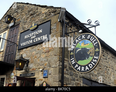 The Black Bull in Paradise at the Theakston Brewery in Masham in the Yorkshire Dales UK - Stock Photo
