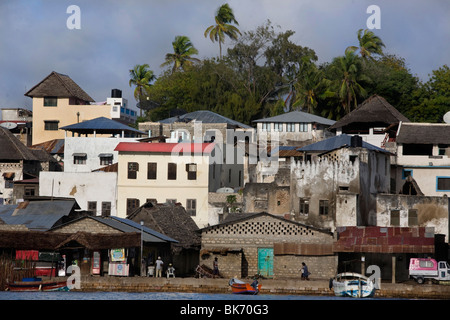 A general view of the sean front of the town of Lamu Island taken on October 10, 2009, Kenya. - Stock Photo