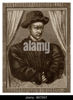 Charles VII of France (1403-1461): King of France from 1422 to 1461. - Stock Photo