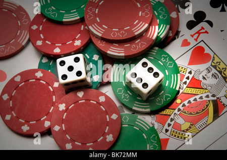 gambling stock market - Stock Photo