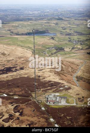 Holme Moss radio transmitter, above Huddersfield, Yorkshire Pennines, Northern England - Stock Photo