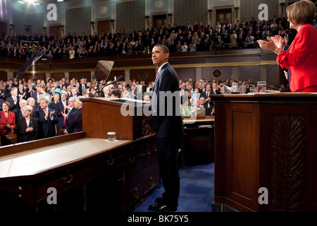 President Obama delivers remarks on health care to a joint session of Congress, at the U.S. Capitol - Stock Photo