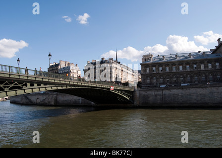 'Bridge of Arcole' Paris France 09.07.2009 - Stock Photo