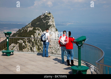Viewing platform on Upper Rock Gibraltar - Stock Photo